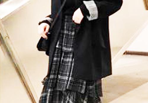 搭配半身长裙