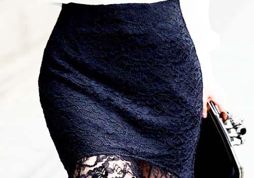 黑色包臀裙搭配